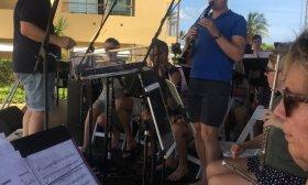KLM Orkest repetitie, Avila Beach, Curaçao.