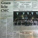 Het KLM Orkest op de voorpagina van het Antilliaans Dagblad!